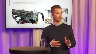 David Hebrand, koncernchef och medgrundare av mod:group berättade hur hans företag lyckats halvera installationstiden tack vare digitala modeller.