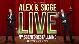"""""""LIVE"""" - En ny scenshow med Alex Schulman och Sigge Eklund"""