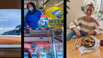 Laksekampanjene i Tyskland og Frankrike fikk mye oppmerksomhet både i butikker, på TV og i sosiale medier. FOTO: Norges sjømatråd