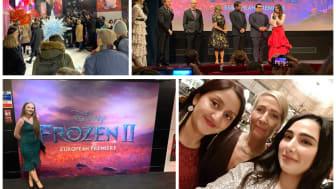 ellenor staff at the Frozen 2 premiere