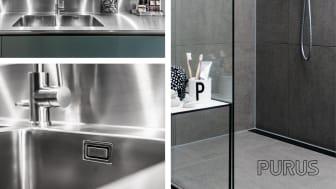 Purus diskbänkar och designbrunnar på Stockholm Furniture & Light Fair.