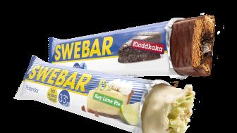 Swebar Kladdkaka och Key Lime Pie - två nya favoriter för alla som gillar träning.