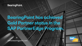 BearingPoint is now SAP Gold Partner