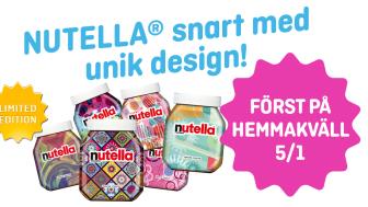 Klassiska NUTELLA® snart i limited edition, först till Hemmakväll, med unik design av varje burk.