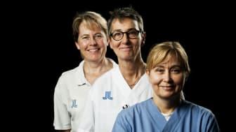 Våga väga-projektet, fr vä Elisabeth Storck Lindholm, Camilla Borgström och Anette Holst.