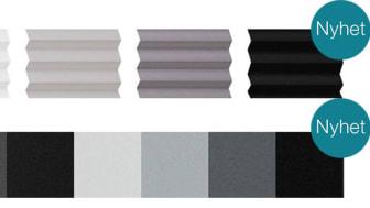 Elitfönster, vävar till plissé, lamell- och rullgardin
