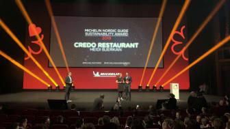 Head chef Heidi Bjerkan picks up the Michelin sustainability award