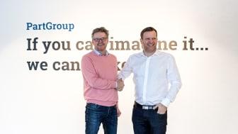 Anders Byström ny Marknadsdirektör till vänster och Anton Lundholm, VD till höger.