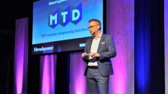 Rickard Lagesson, försäljningschef hos MTD, på Tidskriftsgalan 2015. Foto: Anette Persson.