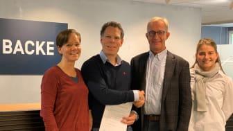 Backe Prosjekt har signert strakstiltakene i Eiendomssektorens veikart mot 2050. Foto: Norsk Eiendom.