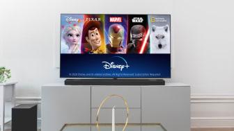 Disney+ nå tilgjengelig på LG TV-er i Norden