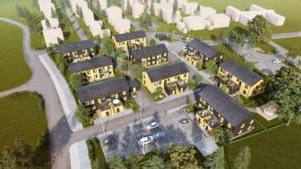 Nytt bostadsområde i Gnesta  Foto: FB Bostad