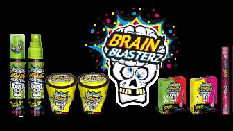 Brain Blasterz sura produkter finns i flera olika utförande och surhetsgrader.
