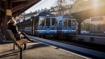 Årets första månad var resenärsnöjdheten rekordhög i SL-trafiken, på lokalbanorna till exempel var den 90 procent. Foto: Gustav Kaiser