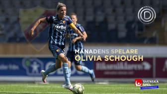 Olivia Schough Månadens spelare i oktober – skänker 10 000 kronor till projekt som sätter barn i rörelse