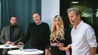 Kristofer Lundberg, Daniel Bernmar, Kajsa Ekis Ekman och Fredrik Gertten. Foto: Maria Ilves