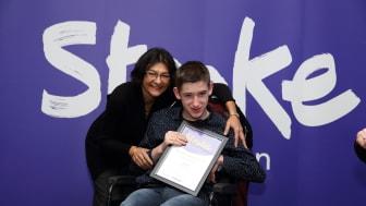 16 year-old stroke survivor receives regional recognition