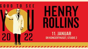 Henry Rollins kommer til DR Koncerthuset, Studie 2 med sit spoken words show.