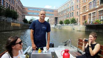 Ingolf Neumann (Stadthafen Leipzig)  führt durch die Leipziger Gewässer