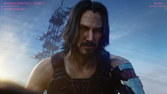 A digital Keanu Reeves makes a surprise appearance in the last scene of the trailer.