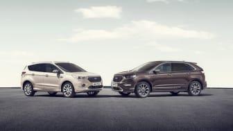 Az új Ford Kuga Vignale és Ford Edge Vignale modellek
