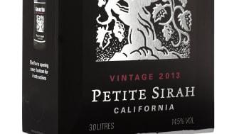 """Gnarly Head Petite Sirah- Allt annat än """"Petite"""".Kraftfylld, smakrik favorit på flaska blir nu även 3 liters snygg box."""
