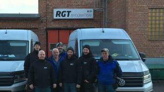 Delar av teamet på RGT Bygg, som nyligen blivit godkänt som Auktoriserat Golvföretag