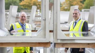 Wilbert Moore, Moore Concrete Managing Director, with Graham Whitehurst, Chair of the Manufacturing Task Force an industry-led initiative established by Mid and East Antrim Borough Council to support and stimulate the local manufacturing sector