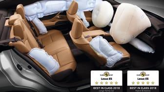 Lexus ES kåret til årets sikreste bil