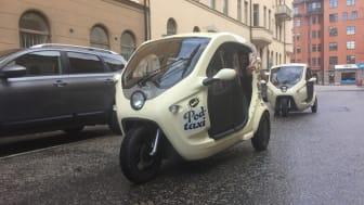 Startupen Bzzt har som mål att erbjuda 200 eldrivna podtaxi på Stockholms gator innan slutet av nästa år.