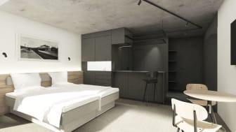 Zleep Hotel Lyngby - Long Stay Room - skitse