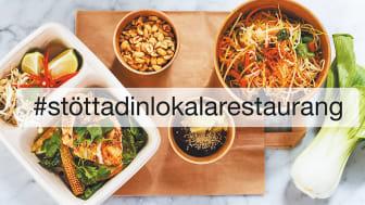 Ny kampanj för att stötta Sveriges restauranger