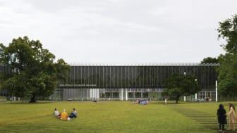De heldige vinnerne blir noen av de første som får sette føttene innenfor Bauhaus Museum Dessau, som åpner 8. september.  Foto: © Bauhaus Museum Dessau/Ginzales Hinz Zabala.