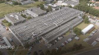 Billedet er af TECs matrikel i Ballerup, som nu bliver sat til salg.