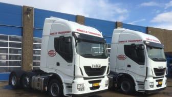 To nye Iveco Stralis i fuld bredde skal køre for Smalle Transport