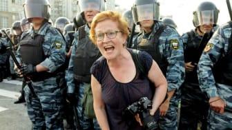 Victoria Ivleva på uppdrag i frontlinjen