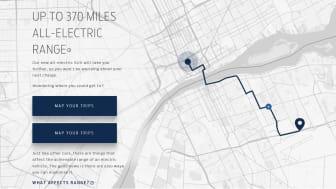 Ny smart webbplatsfunktion hjälper föraren att kartlägga sin resa.