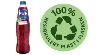 RESIRKULERT PLAST: Slik vil FUN Light-flaskene av kun resirkulert plast se ut.