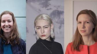 Veronika Geiger, Nat Bloch Gregersen og Viktoria Wendel Skousen inviterer sammen med Bikubenfonden til Open Studio.