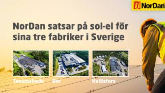 NorDan AB investerar i solcells-anläggningar från Yokk Solar AB till företagets tre fabriker i Sverige