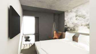 Zleep Hotel Lyngby - Standard Room - skitse