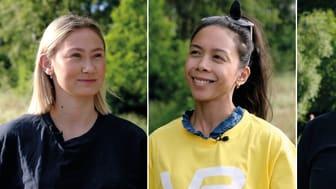Fra venstre: Maren Nenseth Twang, Jennifer Reyes Luna, Thea Westlie Eldor