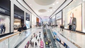KONEs rulltrappor vid köpcentret Mall of Scandinavia