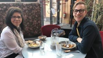 Nayelli och Mattias träffades när Företagarna och Yrkesdörren hade nätverkslunch