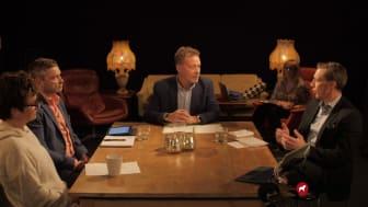 Eva Lena-Frick, Peter Helander, Anders Rosén och Jonas Rosén fanns på plats i studion under Up to Date Digital.