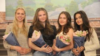 Beatrice Ekelund Spånér, Lovisa Envall, Linnéa Wilhelm och Martina Röstberg vann priset för bästa vara i SM i Ung företagsamhet