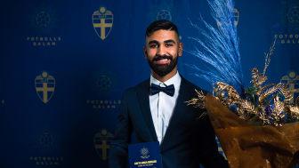 Ali Shahedy Fard blev Årets unga domare på Fotbollsgalan. Foto: Simon Hastegård/Bildbyrån