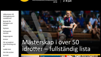 Full fart i Helsingborg och Landskrona när städerna arrangerar SM-veckan i sommar. Bild: SM-veckans hemsida.