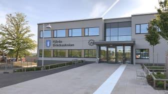 Fjärås Bräckaskolans huvudbyggnad. Foto: Magnus Hägg, Kungsbacka kommun
