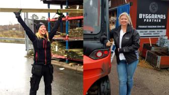 Angelica Finnborg och Bim Jobsen på Byggarnas Partner.